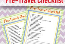 Free Printable Checklists for Traveling / Free Printable Checklists for travel, camping