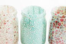 crafts - mason jar & wine bottle  crafts