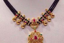 Black beaded jewelry