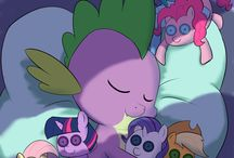 mlp spike and mane 6