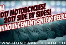 New Announcements | 2017 Honda Motorcycles / Side by Side / ATV Models