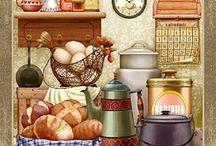 Decoupage kitchen