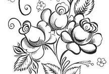 Рисунки роспись