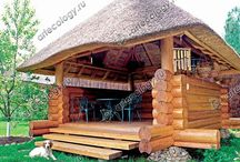 Thatch garden house
