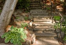 Steps and Stone / Landscape Plus Ltd. sources reclaimed stone from various locations to achieve the look of permanence and authenticity for beautiful steps, walls, and pathways.