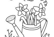 Voorjaar: kleurplaten en puzzels