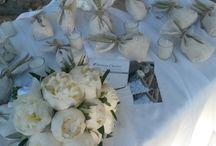 wedding white peony & olive...