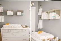 Baby room wall storage