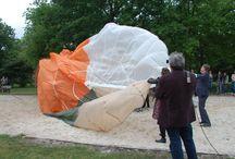 JSF-speeltoestel / JSF of F35 vliegtuig speeltoestel aan het Heikantsepad in Volkel tijdens de opening met Volkel in de wolken.