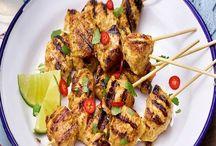 Mango Chutney Chicken Kebabs Recipe