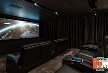 Uptown / Home theatre and bar in Melbourne VIC Australia designed by Wavetrain Cinemas. Seating by Fortress Seating.