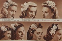 1940's and 50's hair styes & accessories