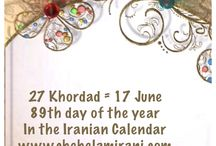 27 Khordad = 17 June / 89th day of the year In the Iranian Calendar www.chehelamirani.com