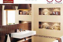 Színek: BÉZS-BARNA fürdőszobák / bézs barna fürdőszobák