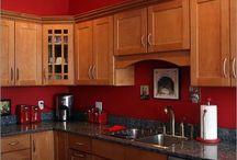 kitchen red theme