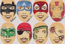 Схемы раскраски лиц