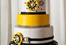 pastel amarillo negro