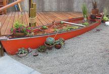 Een kano voor vijver planten