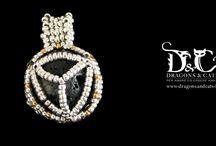 lava stone aromatherapy pendant jewelry / DIY handmade jewelry