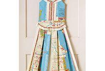 Paper dresses & flowers
