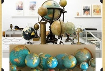 {Gone Global} / Creative and inspiring ways to use globes for crafts, home decor, display, and more.