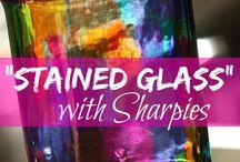 arte em vidros/vitral