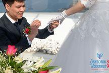 Zhu & Zhang'dreamy wedding in Santorini
