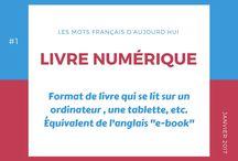Les mots français d'aujourd'hui / Les mots récents du français et leur explication.
