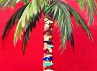 Palm Tree Paintings and Photos
