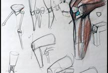 Рисуем ноги и руки