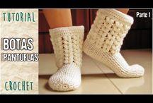botas de croché