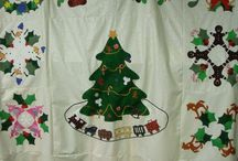 Baltimore Christmas Quilt / Baltimore Christmas Express Quilt comes as 13 separate quilt block kits.  All of the appliques are precut with a fusible iron-on backing, All you do is iron them on and stitch them down.  You can get one block or the entire quilt.  it is simple and easy.  Just go to www.appliquesquiltsandmore.com and check it out.