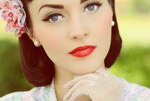 jaren 50 make up en haarstyling