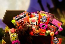 "Halloween Fun / If you celebrate Halloween, then you'll have seventeen reasons to cheer!  I have featured a sampling of the variety of Halloween gifts that you will find in my online store: Fabric totes, Candy Buckets, Cookie Bouquets, Activity Bags, Care Packages and ""spooky"" Gift Baskets !  Choosing just one will be the hardest part!"