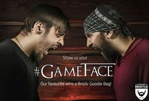 #GameFace Entries / To celebrate the launch of Game of Thrones, Season 5, we're giving away a Bristlr goodie bag for the best #GameFace! Here are the entries...