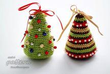 hæklede juletræ