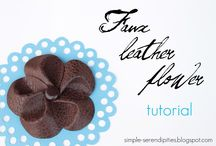 Leather flowers / by Tiffany Crowley-Smoak