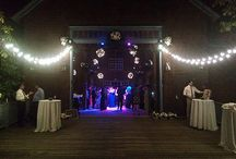 Weddings--Making Memories with Theater Know How / Ideas for  setting the mood and the atmosphere for your wedding or event, both indoors and out.