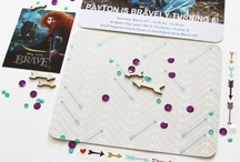 Scrapbooking: Examples of using Sequins