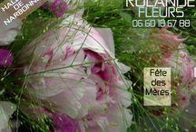 fête des mères / bouquet de fleurs pour la fête des mères chez Rolande votre fleuriste aux halles de Narbonne
