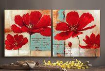 flor roja doble