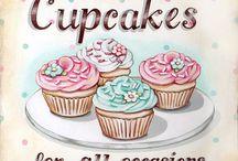 Cupcakes ,süti, kávé, tea