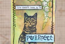 Darkroom door cat stamp