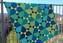 Solids! / Modern quilts using predominantly solids.