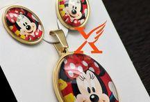 Wunderschöne Edelstahl Set Anhänger und Ohrringe Micky Mouse 12,90 Euro