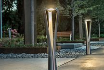 FGP Collection / FGP is an integrated collection of site furniture and lighting from Milan-based designer Francisco Gomez Paz. Part of Landscape Forms Global 45 initiative, FGP was designed for international application and appeal. The FGP Collection includes five elements: a bench, litter receptacle, bike rack and pedestrian and pathway LED lights.   More Information at: http://www.landscapeforms.com/en-us/products/pages/FGP.aspx  / by Landscape Forms