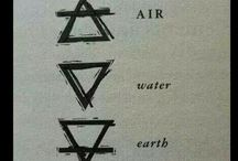 The four elements and magic