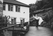 Couple Snaps at Bickley Mill Inn / Wedding Shots in our lovely Grounds at Bickley Mill Inn. Confetti, grins & cheers!