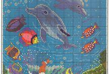 Onderwaterwereld strijkkralen  patronen