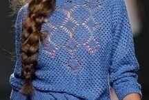 Вязание свитер крючком